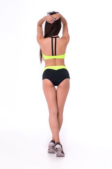 Pole Dance Top Olivia Light Green-Black