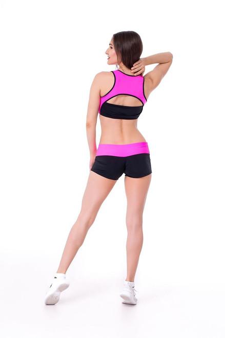 Pole Dance Shorts Isabella Black-Pink