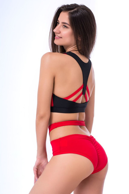 Pole Dance Shorts Elizabeth Red
