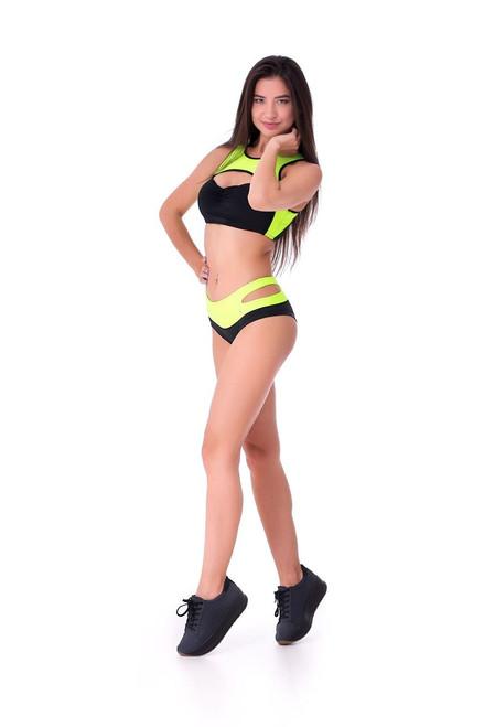 Pole Dance Shorts Ruby Black-Light Green