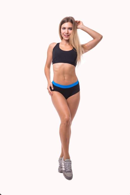 Pole Dance Shorts Lily Black-Blue