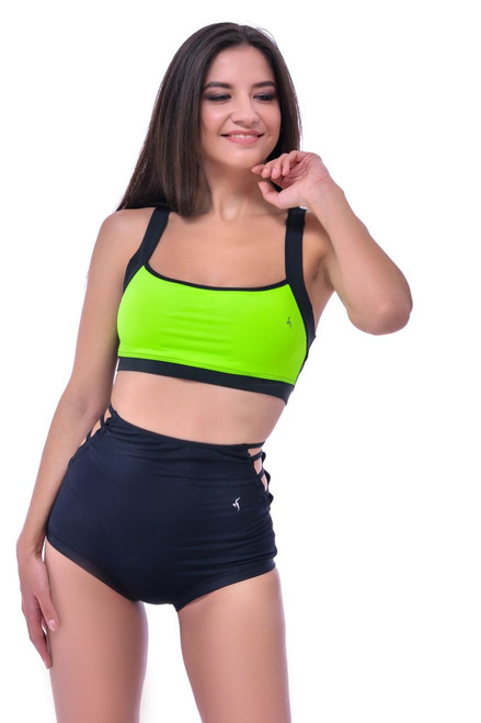 Yoga Top Charlotte Light Green-Black