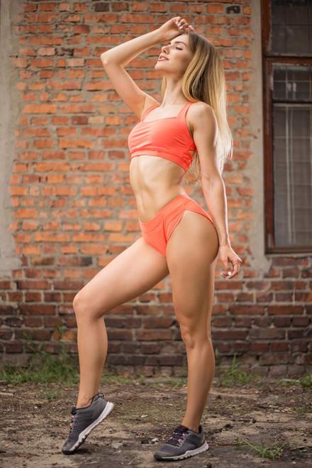 Pole Dance Top Charlotte Orange