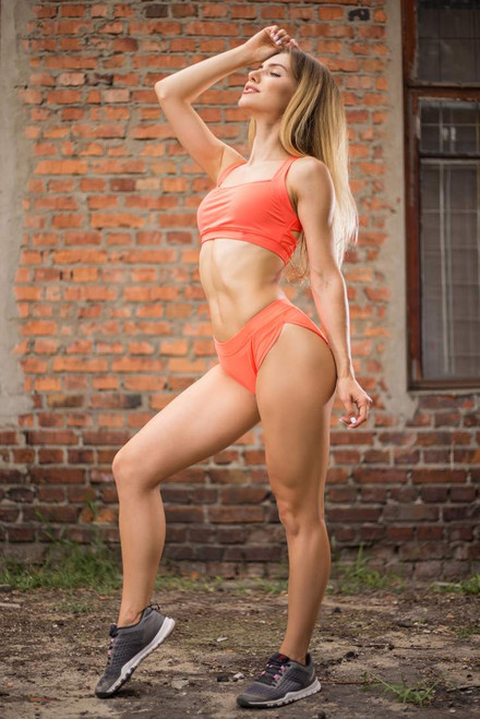 Pole Dance Top Charlotte Orange