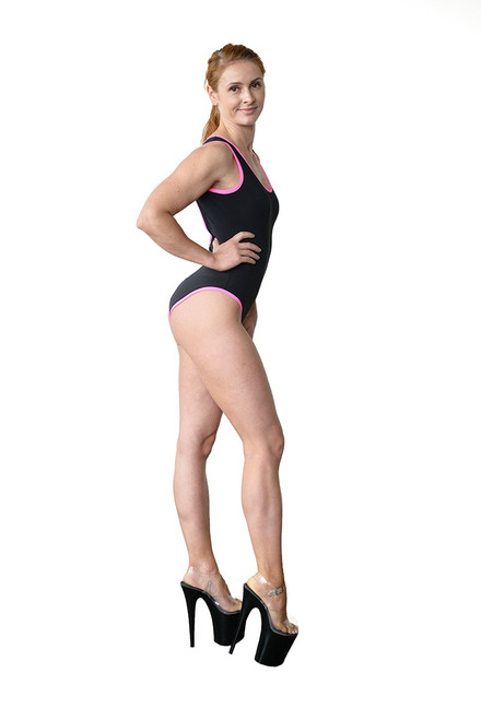 Fitness Bodysuit Aria Black-Pink