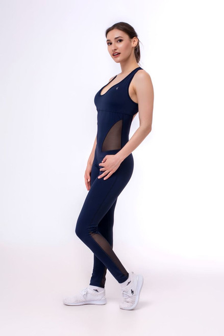 Workout Leotard Marilyn Indigo Mesh