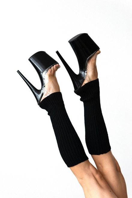 Pole Dance Leg Warmers Black 45cm