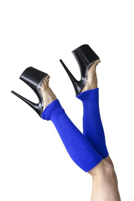 Pole Dance Leg Warmers Blue 45cm