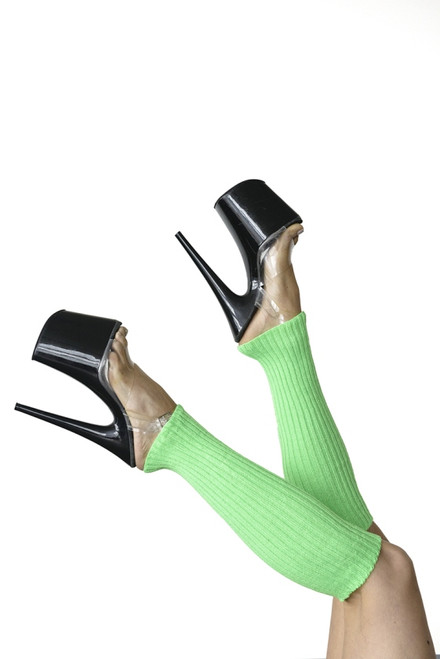 Pole Dance Leg Warmers Green 45cm