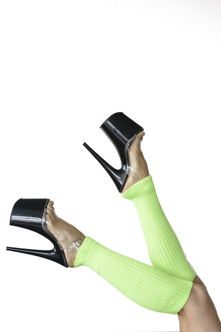 Pole Dance Leg Warmers Electric-Green 45cm