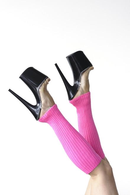 Pole Dance Leg Warmers Hot-Pink 45cm