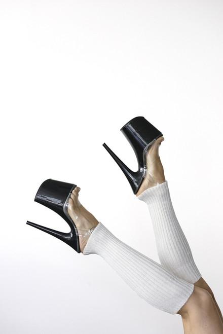 Pole Dance Leg Warmers White 45cm