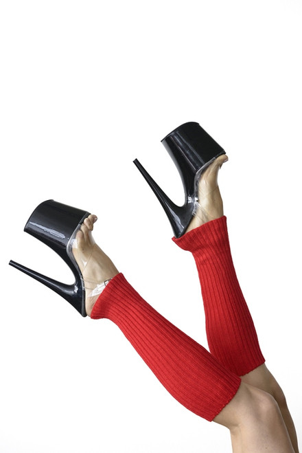 Pole Dance Leg Warmers Red 45cm