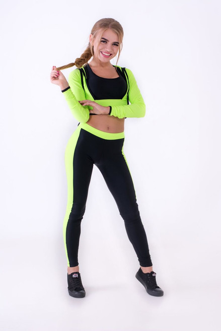Pole Dance Bolero Abigail Light Green-Black