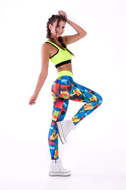 Pole Dance Leggings Hailey Mosaic