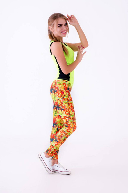 Pole Dance Leggings Hailey Golden-Daisy