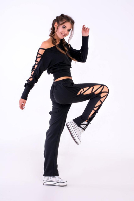 Pole Dance Sweatshirt Kaylee Black