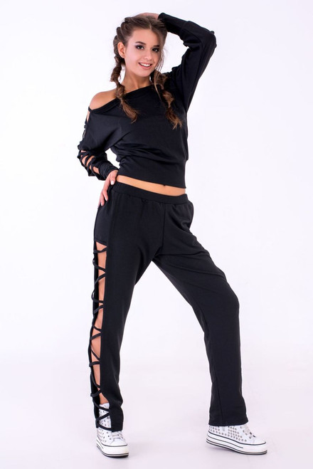 Pole Dance Sweatshirt Kaylee Black