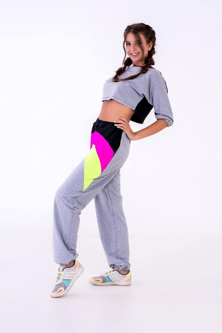 Pole Dance Sweatshirt Riley Grey-Black, Sweatshirt, Polewear, Dancewear