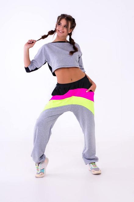 Pole Dance Sweatshirt Riley Grey-Black