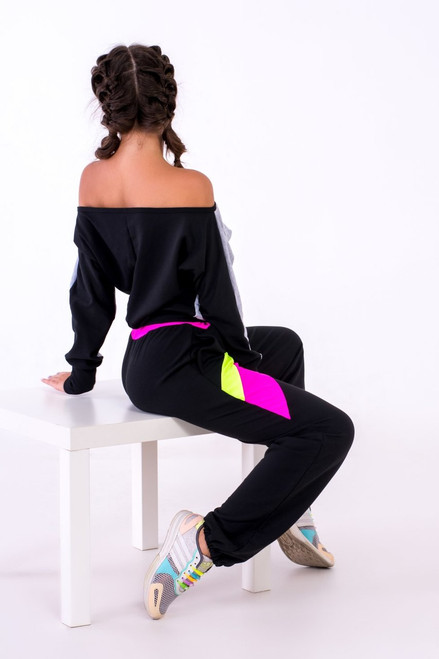 Pole Dance Sweatshirt Zoey Grey-Black