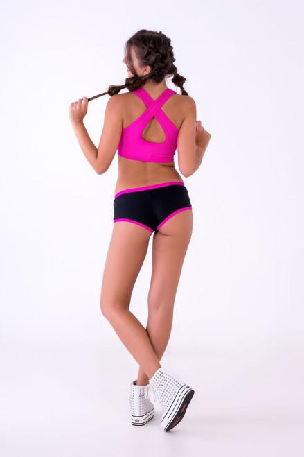 Pole Dance Shorts Hannah Black-Pink