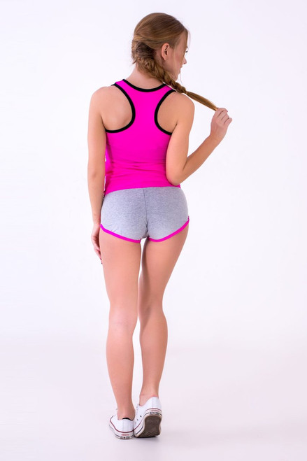 Pole Dance Shorts Claire Grey-Pink