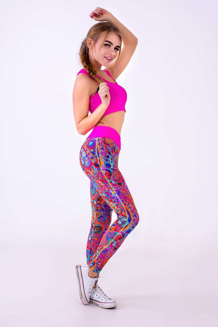 Pole Dance Leggings Mila Abstract
