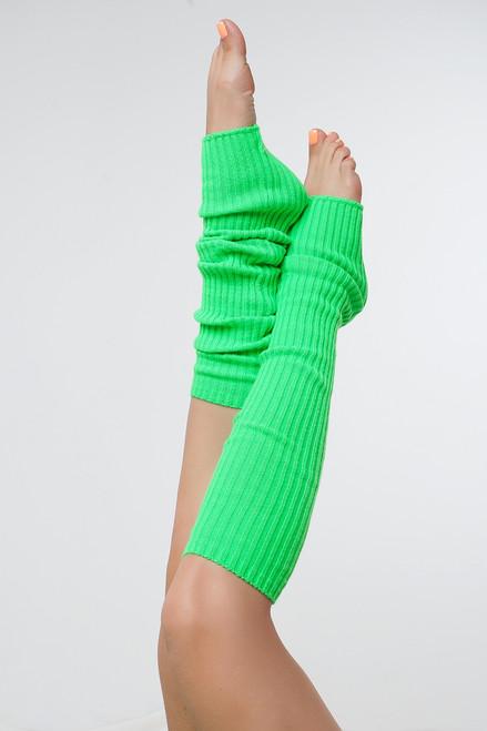 Dance Leg Warmers Green 90cm