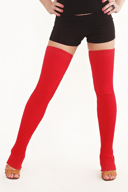 Dance Leg Warmers Red 90cm