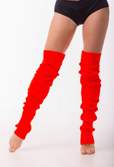 Dance Leg Warmers Red 90cm