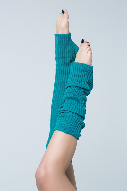 Dance Leg Warmers Turquoise 90cm