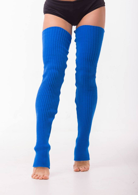 Dance Leg Warmers Bright Blue 90cm