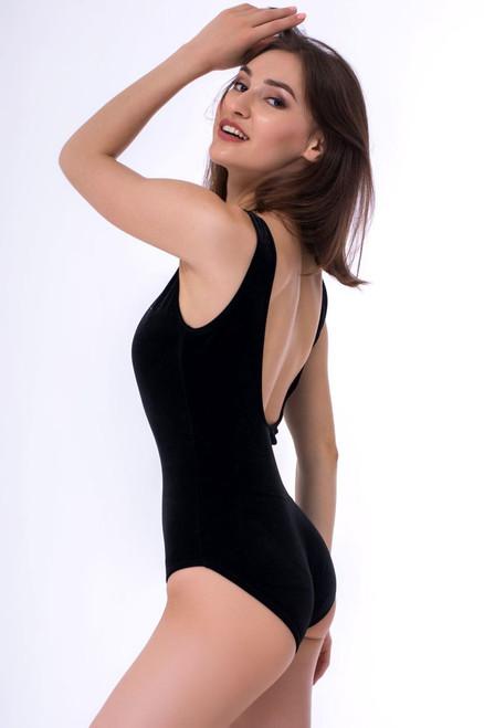 Pole Dance Bodysuit Aria Black Velour