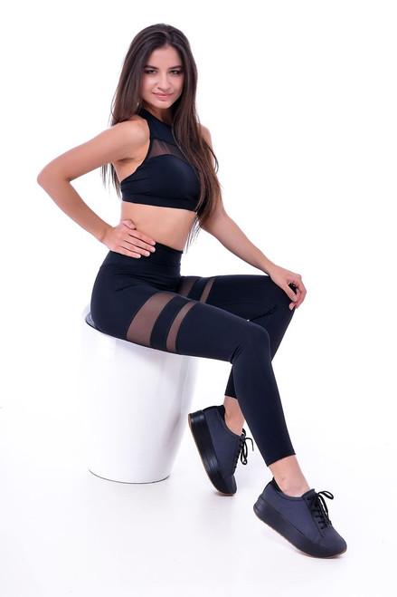 Gym High Waisted Leggings Ariana Black
