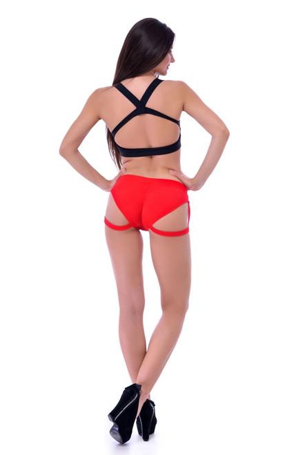 Yoga Shorts Natalie Red