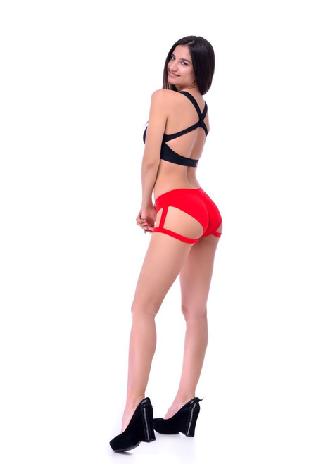 Dance Shorts Natalie Red