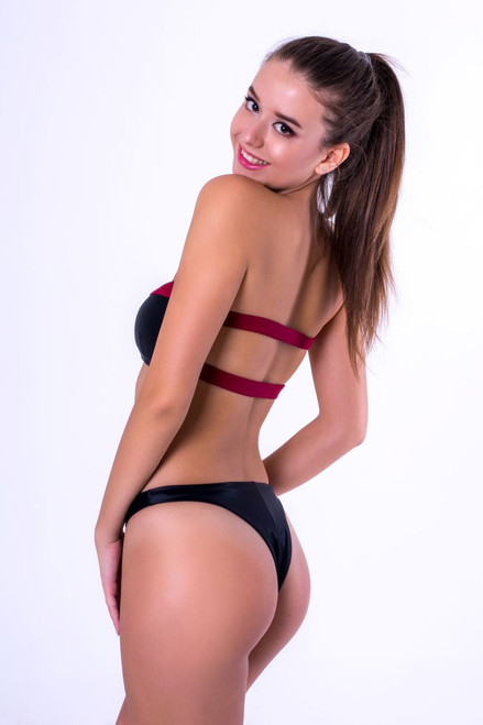 Tess BIKINI SET Black & Red