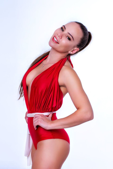 Antuanetta One-Piece Swimsuit Red