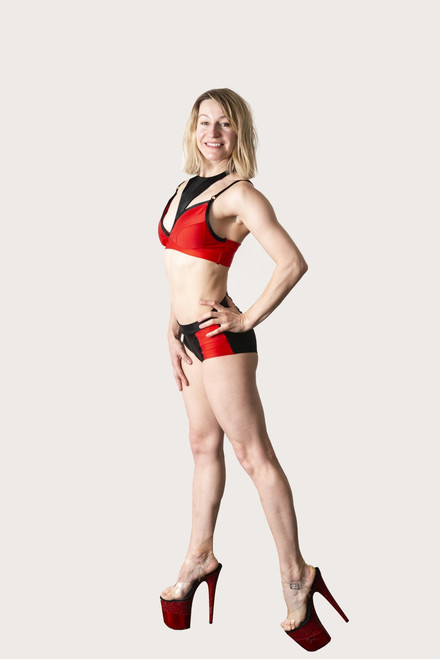 Polewear Shorts Addison Red-Black