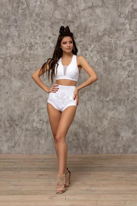 Top Avery Velour-White