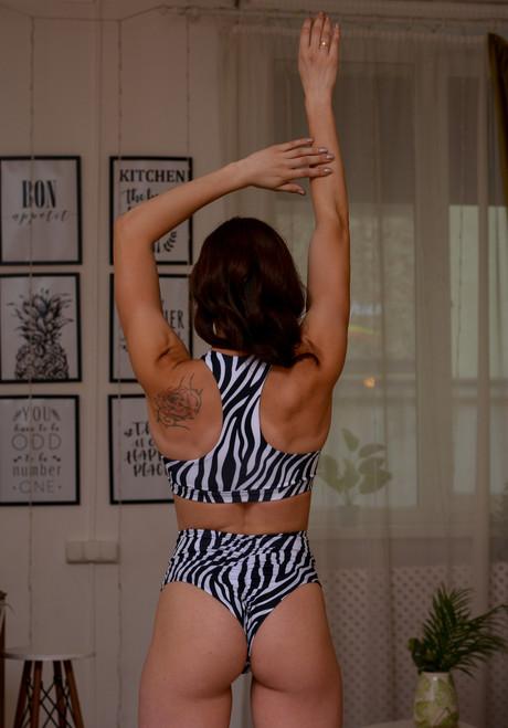 Pole top, pole croptop, polewear, poleclothes, poleclothing, Zebraclothes, sportclothes, sportwear, Top Scarlett Zebra
