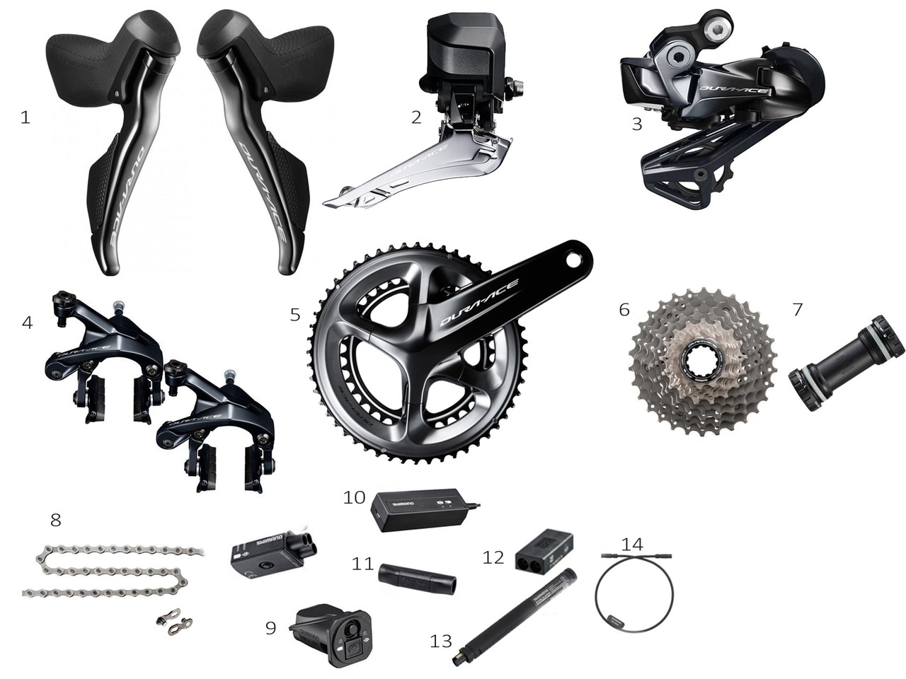 beae5040795 Shimano Dura-Ace R9150 Di2 Groupset - Glory Cycles