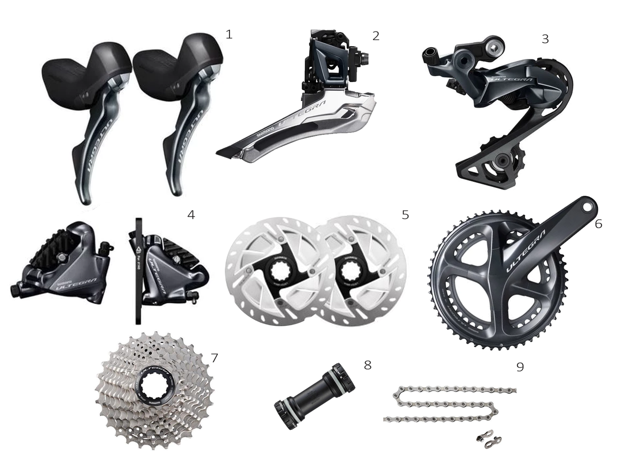 Shimano Ultegra R8020 Mechanical Hydro Disc Brake Groupset