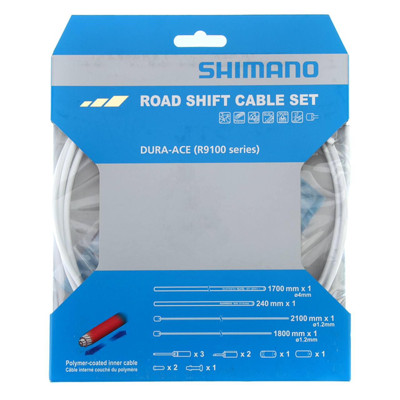 Workshop Made Shimano OT-SP41 Road Stainless Shift Cable Set Gear BLACK
