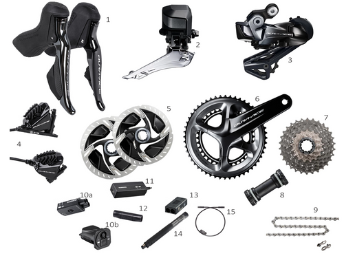 Shimano Dura-Ace R9170 Di2 Hydro Disc Groupset