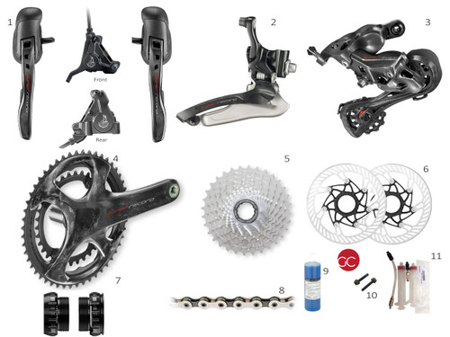 Campagnolo Super Record 12 spd Mechanical Disc Brake Groupset