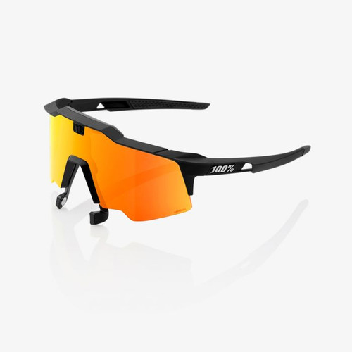 100%  Speedcraft AIR Sunglasses (Soft Tact Black - HiPER Red Multilayer Mirror)