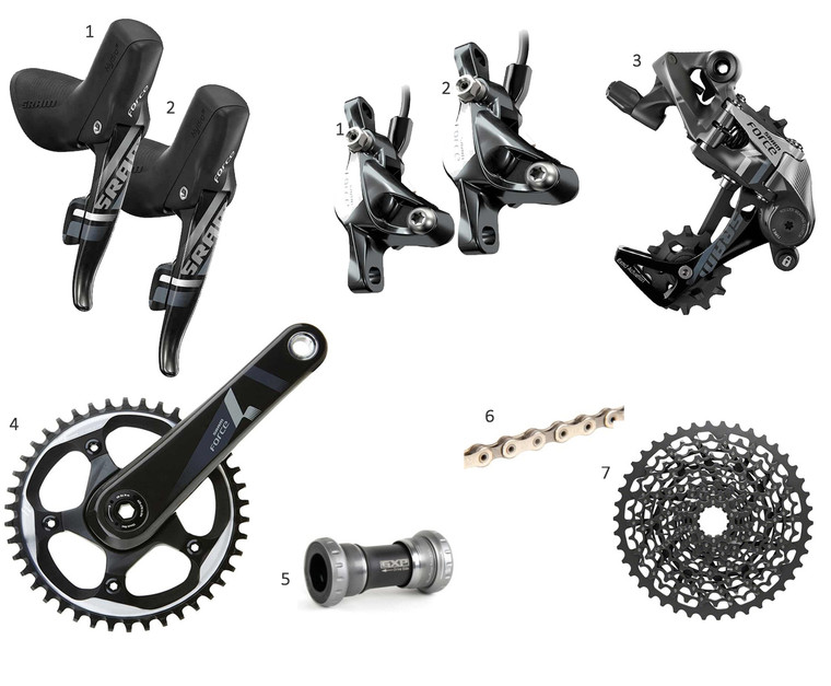SRAM Force HRD 1x Gravel or Road Groupset