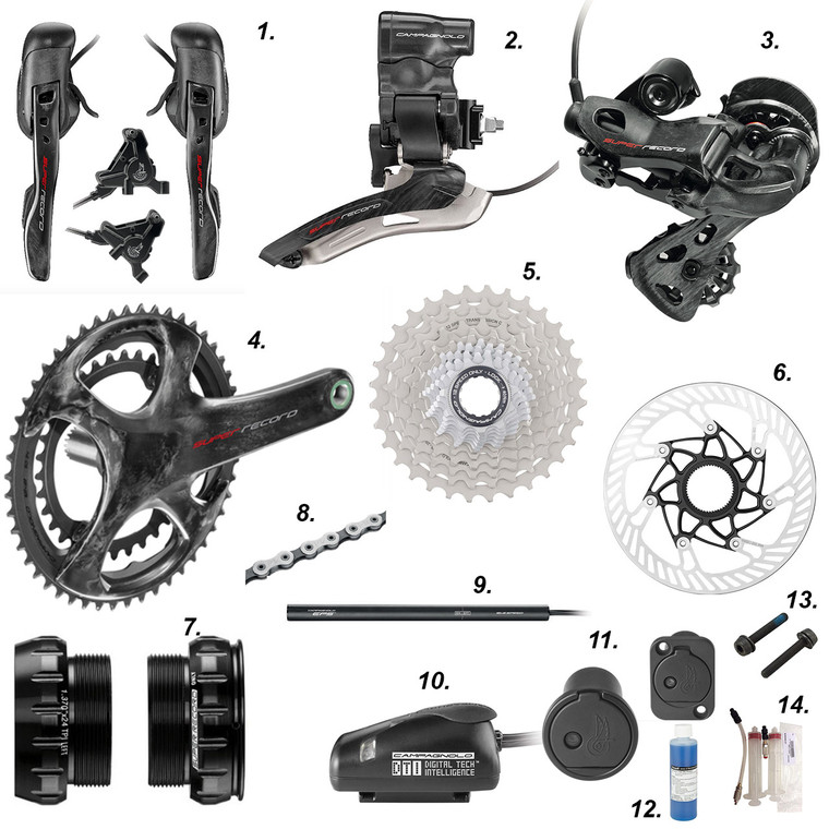 Campagnolo Super Record EPS 12 speed disc brake groupset